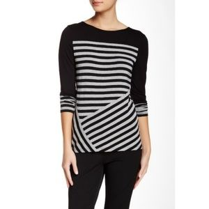 Vince Camuto Colorblock Striped Top